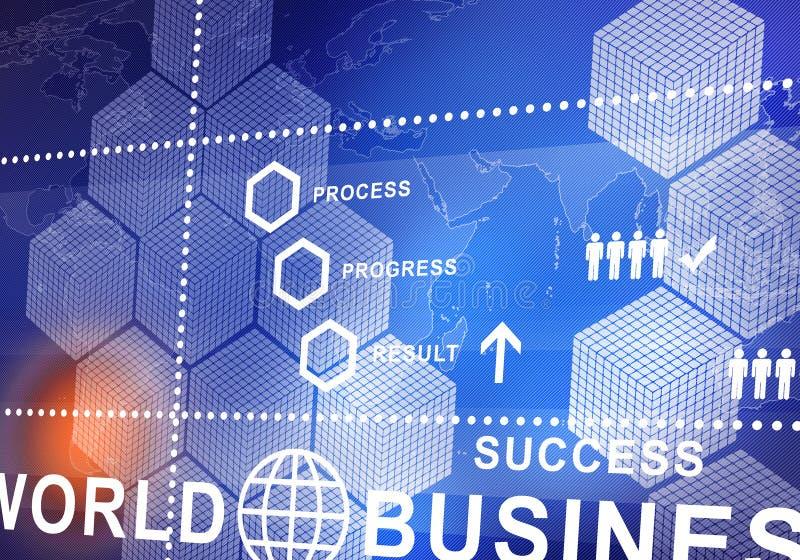 Digitaler Hintergrund des abstrakten Geschäfts lizenzfreie abbildung