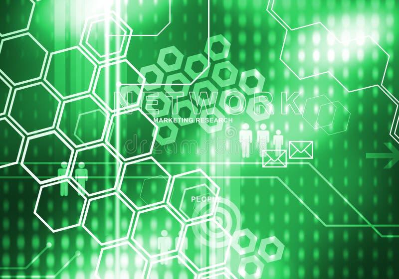 Digitaler Hintergrund des abstrakten Geschäfts stock abbildung