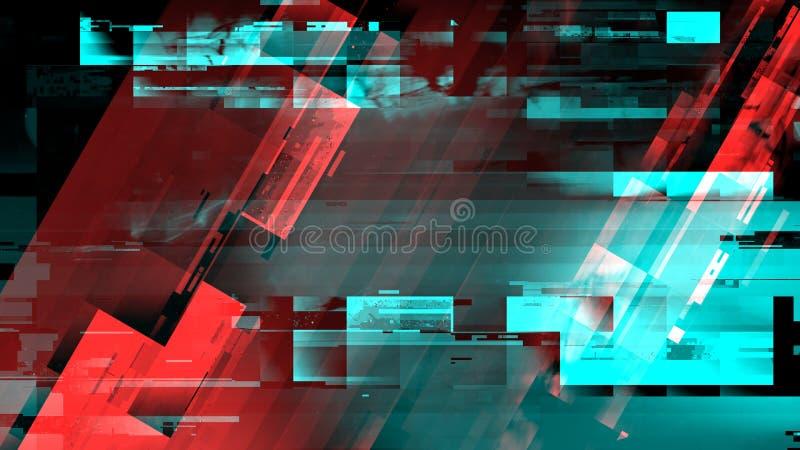 Digitaler Störschub des Technologiefehlers stock abbildung