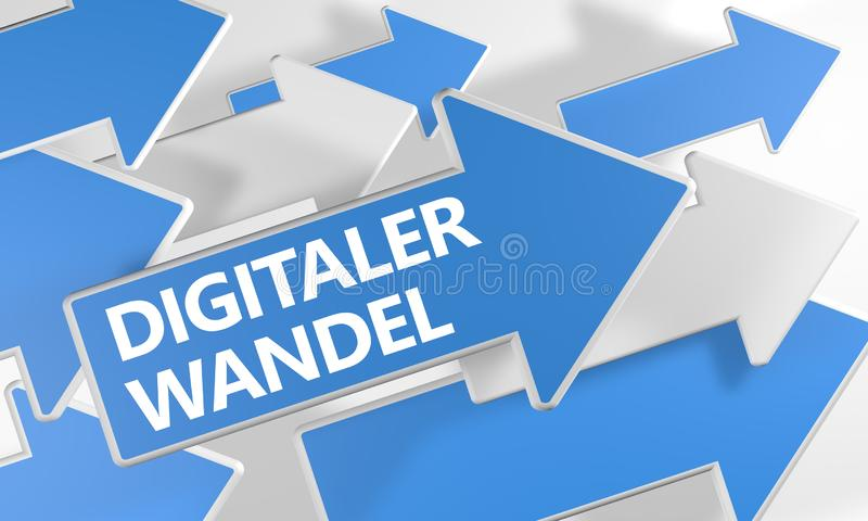 Digitaler Wandel stock illustratie