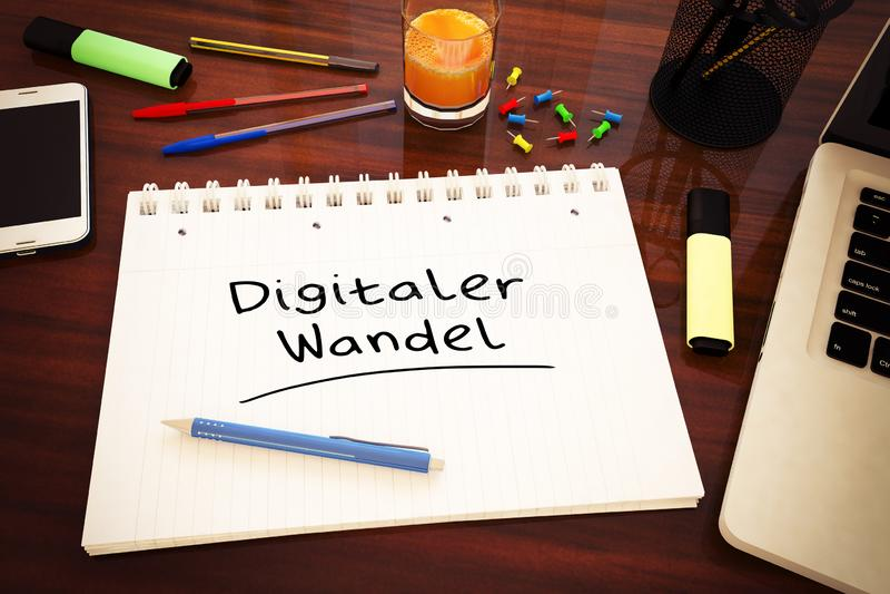 Digitaler Wandel illustration de vecteur
