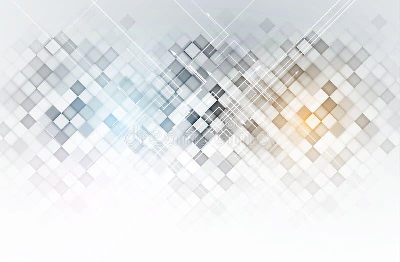 Digitaler Websitetitel der abstrakten Technologie Grüner Hintergrund stock abbildung