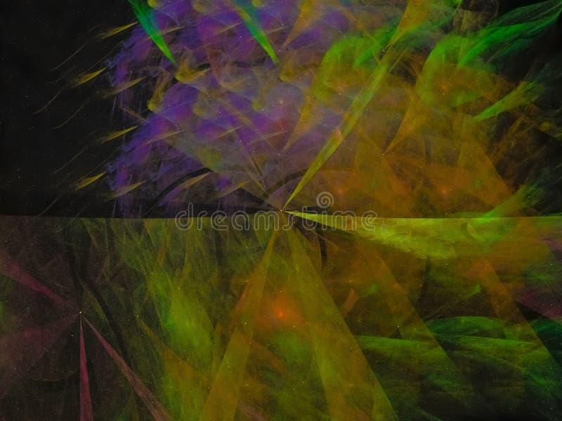 Digitales abstraktes schönes Design Kontrast Fractal lizenzfreies stockbild