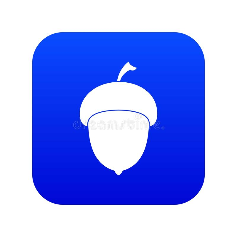 Digitales Blau der Eichelikone stock abbildung
