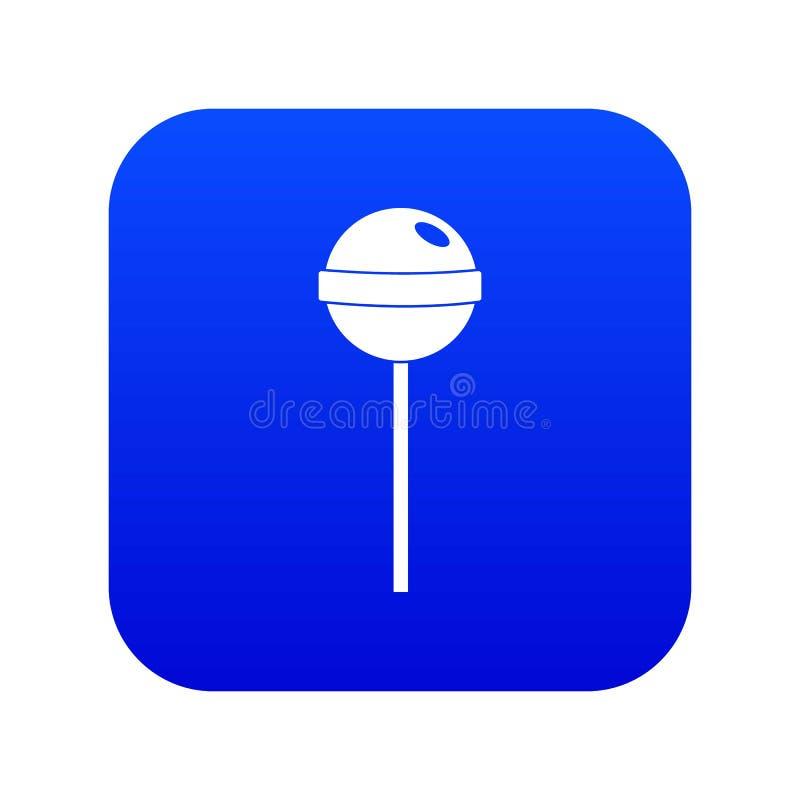 Digitales Blau der geschmackvollen Süßigkeitsikone vektor abbildung