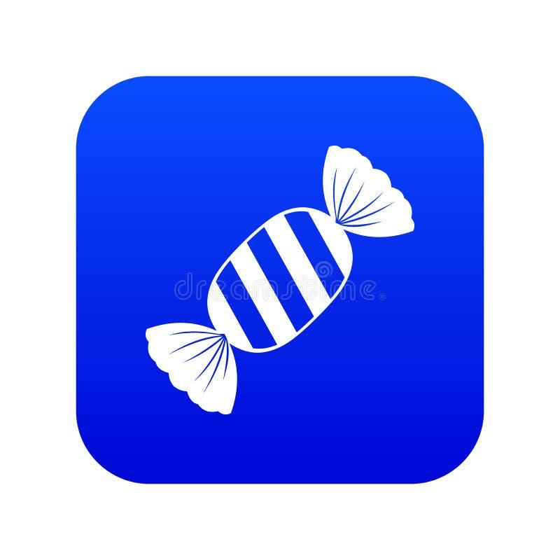 Digitales Blau der köstlichen Süßigkeitsikone lizenzfreie abbildung