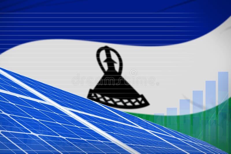 Digitales Diagrammkonzept der Lesotho-Solarenergieenergie - alternative industrielle Illustration der natürlichen Energie Abbildu vektor abbildung