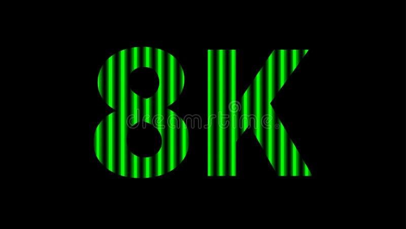 digitales Neon des Alphabetes 8k hellgrün auf schwarzem, hochauflösendem 8k für modernen Hintergrund, Entschließung 8k des Techno stockfoto