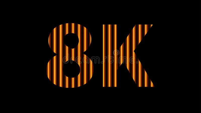 digitales Neonlicht des Alphabetes 8k golden auf schwarzem, hochauflösendem 8k für modernen Hintergrund, Entschließung 8k des Tec lizenzfreie stockfotografie