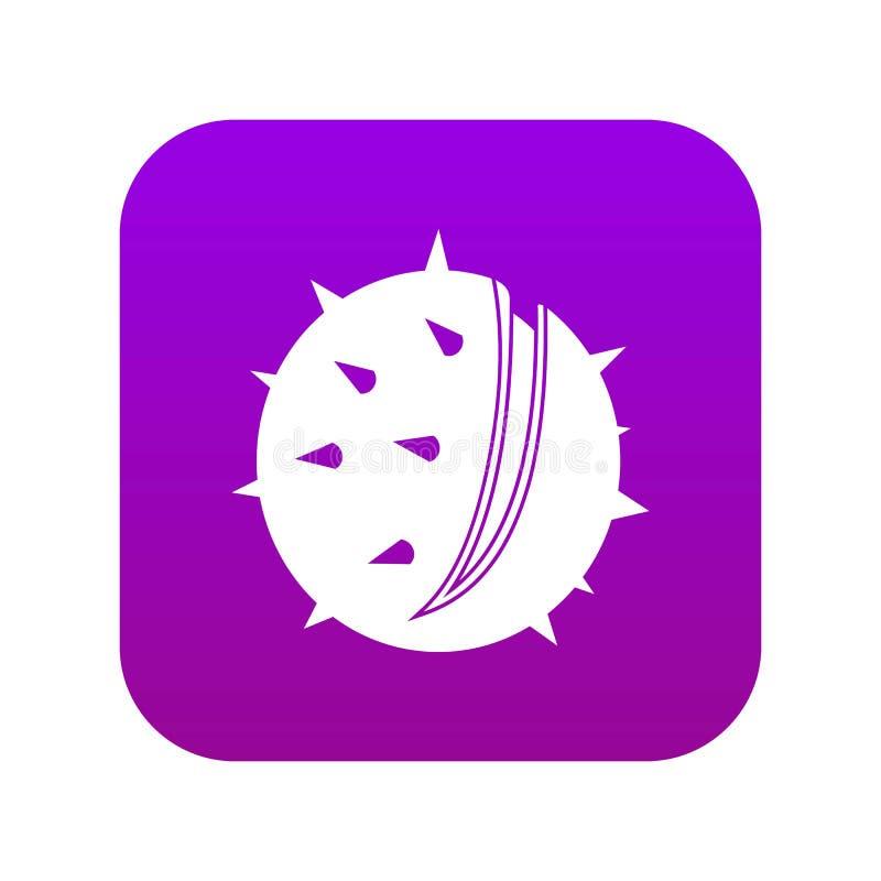 Digitales Purpur der Kastanienikone vektor abbildung