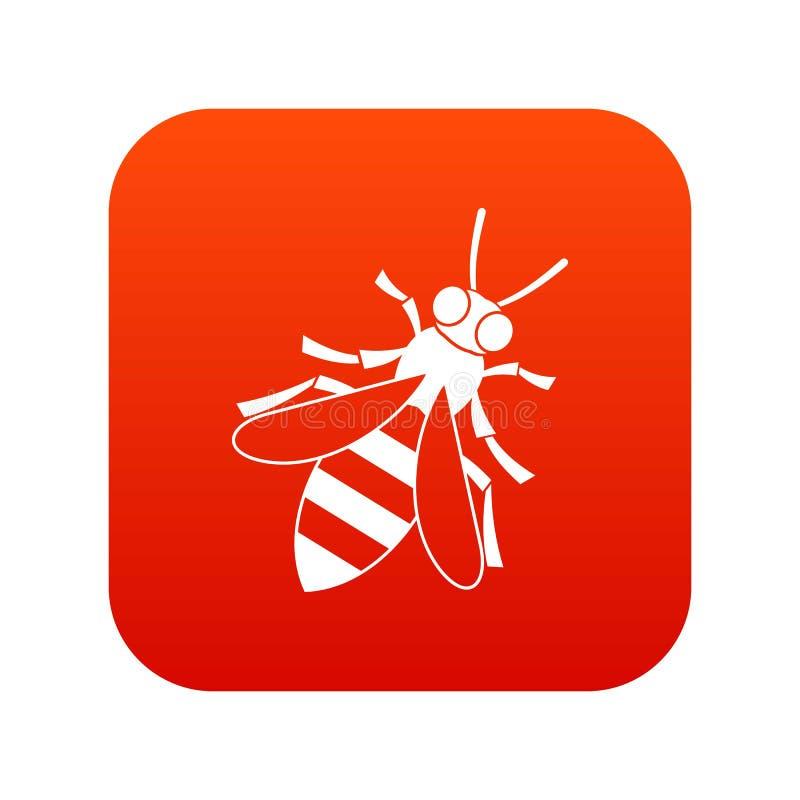 Digitales Rot der Honigbienen-Ikone lizenzfreie abbildung