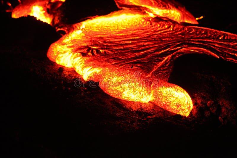 Digitalfotografie-Hintergrund von großer Insel Hawaii Kilauea Lava Volcano Flow lizenzfreie stockbilder