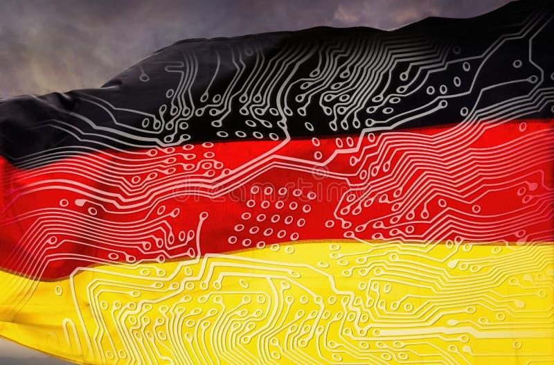 Digitalisierung von Deutschland stockbilder