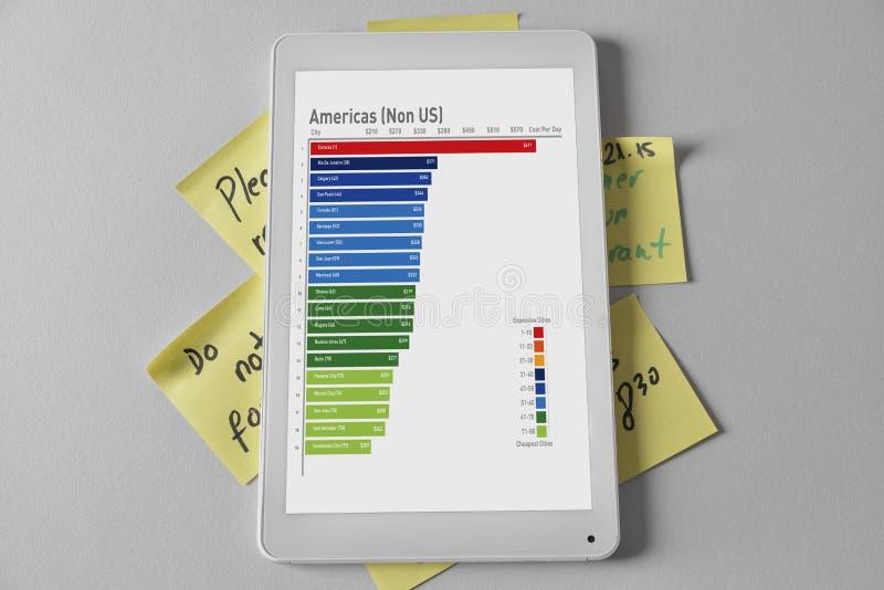 Digitalizzando sul cuscinetto per fare le liste illustrazione di stock
