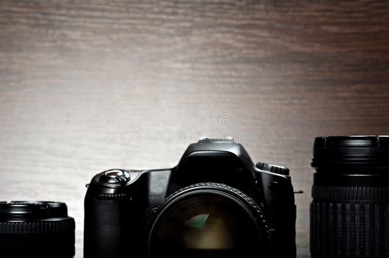 Digitalkamera und Objektive lizenzfreie stockfotos