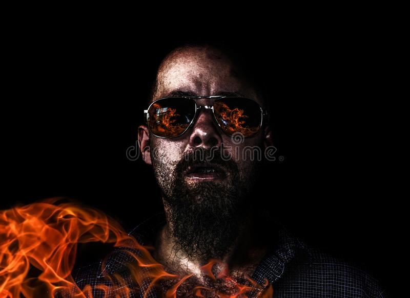 The arsonist in action royalty free stock photo