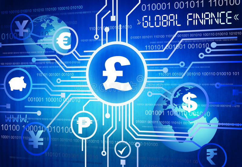 Download Digitally Different Global Currency Symbols Stock Illustration - Image: 39382347