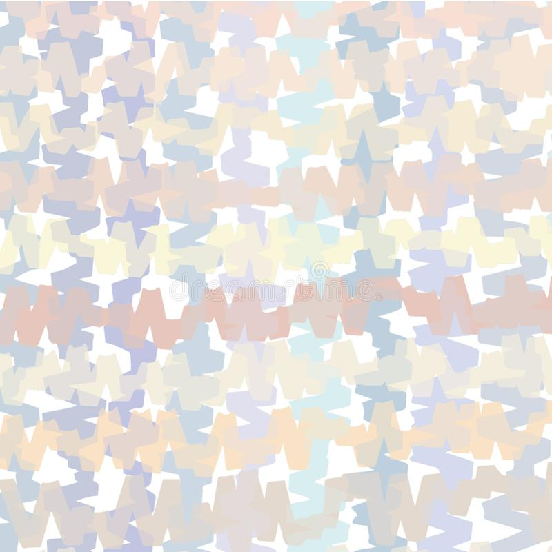 Digitally generated and colored, wide marker strokes based, muted colored, jumbled pattern stock illustration