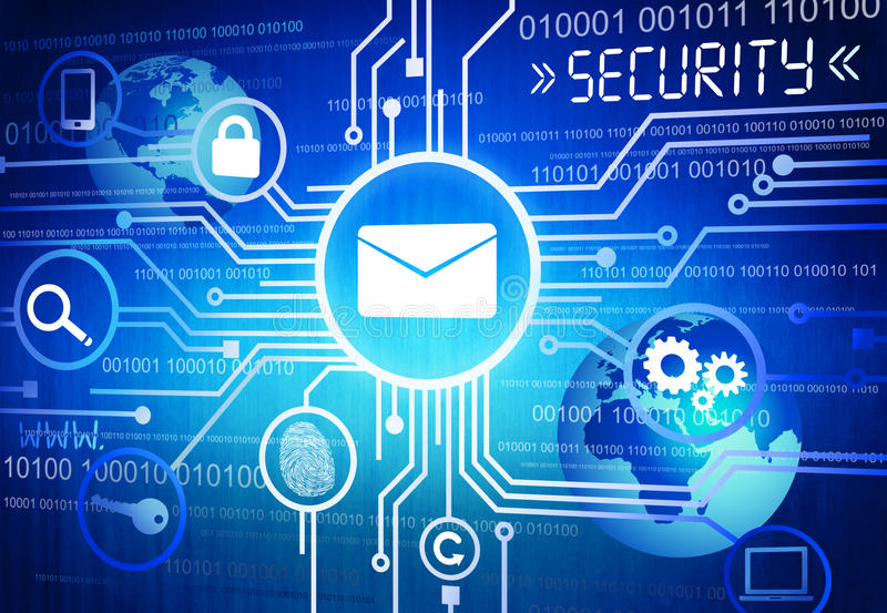 Digitally Generated Image of Online Security Concept.  stock illustration
