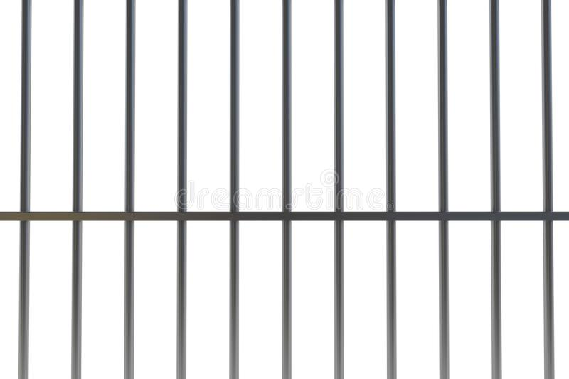Digitally generated metal prison bars. On white background vector illustration
