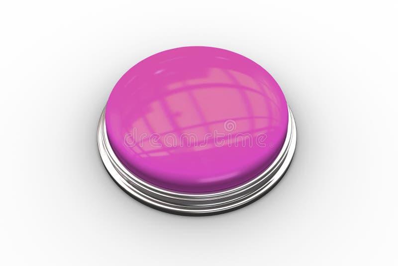 Digitally generated shiny pink push button. On white background royalty free illustration