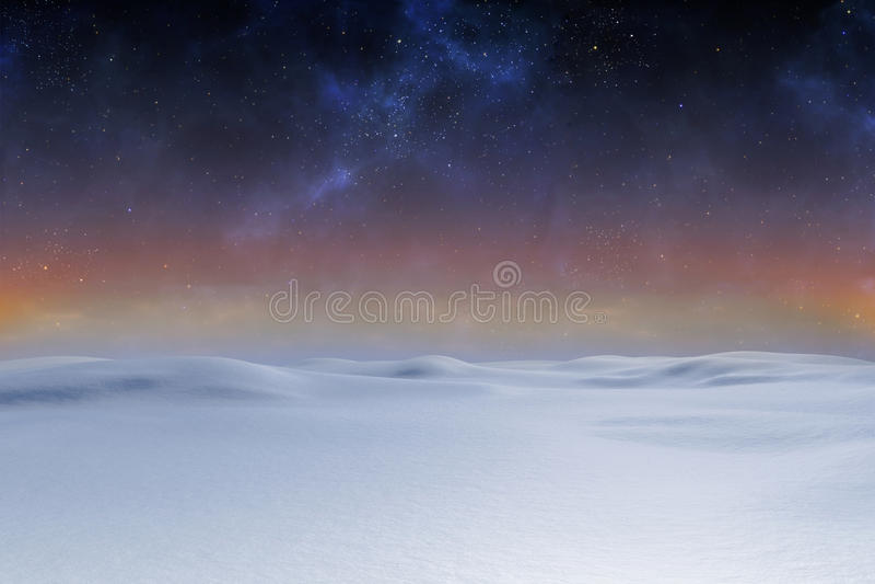 Digitally generated Snowy land scape. Digitally generated Snowy landscape with pole and copy space vector illustration
