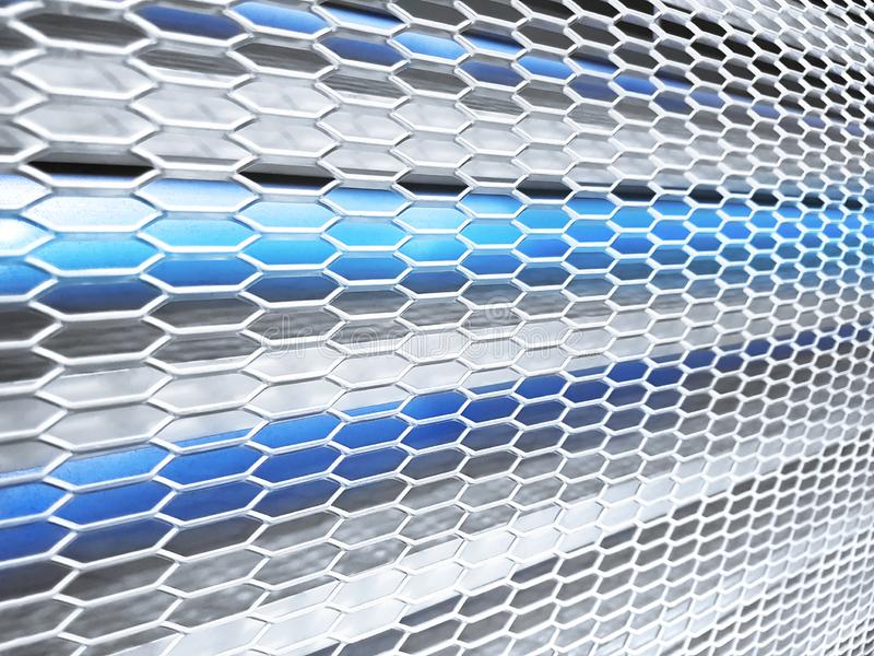 Digitally image of blue light background. Blue Abstract Technology Background, Steel polygonal texture royalty free stock photo