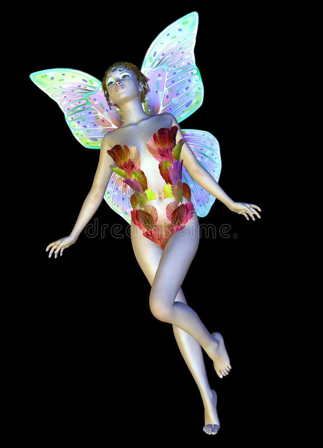 Download Flower fairy flies stock illustration. Image of character - 30070459