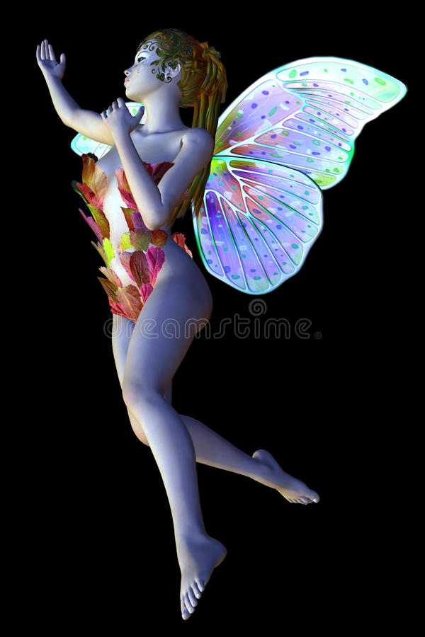 Flower Fairy Flies Royalty Free Stock Images