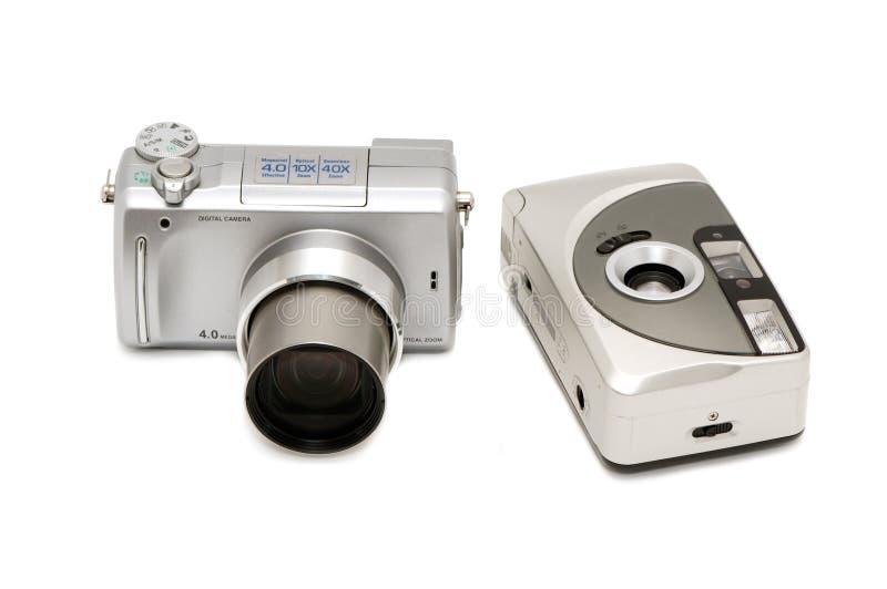 Digitals et film photos libres de droits