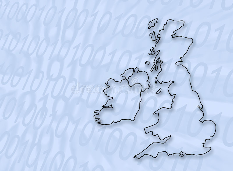 Digitals Grande-Bretagne illustration de vecteur