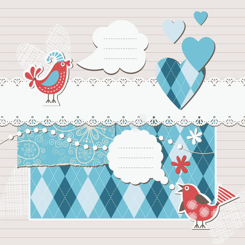Digitals scrapbooking illustration stock