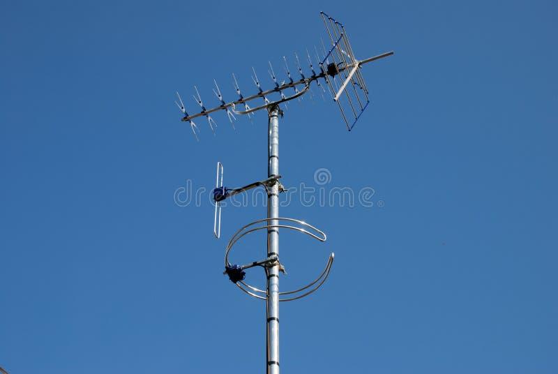 Digitals TV et antennes par radio image libre de droits
