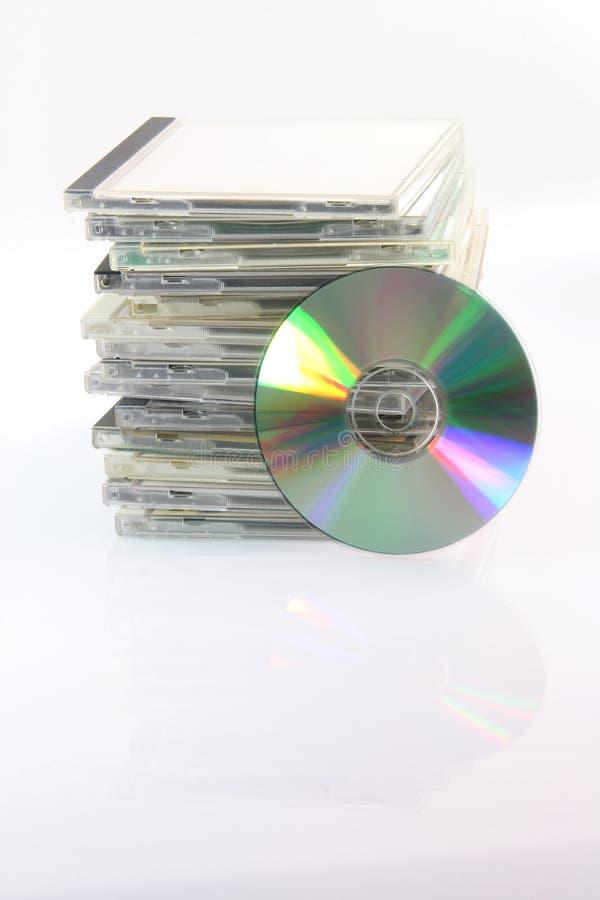 Digitalschallplatte und Fälle lizenzfreies stockbild