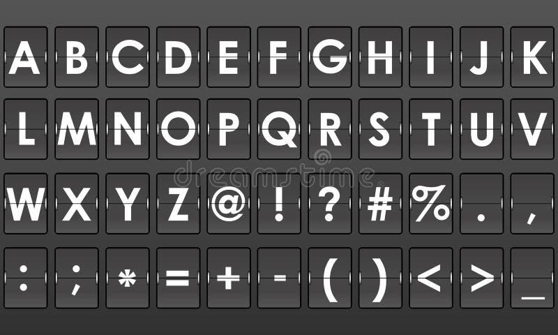 Digitalt engelskt alfabet för Flip royaltyfri illustrationer