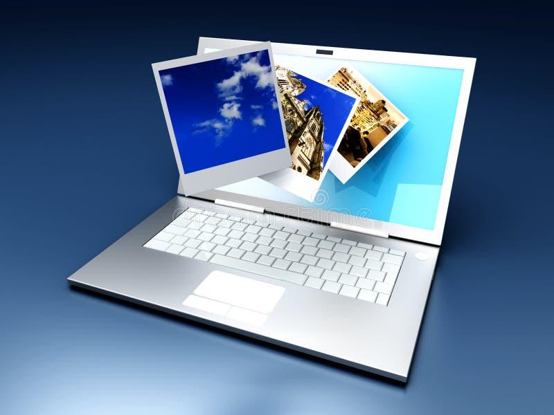 digitalt gallerifoto vektor illustrationer