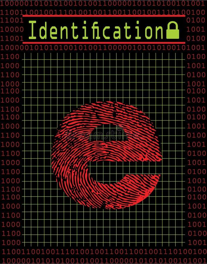 digitalt ID för begrepp vektor illustrationer