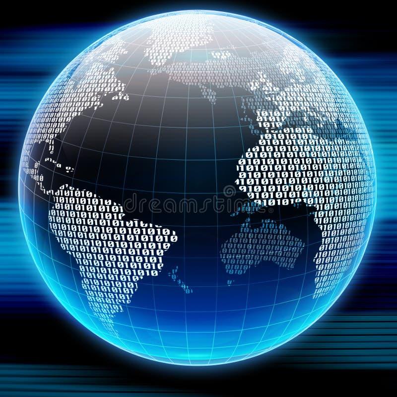 digitalt jordklot vektor illustrationer