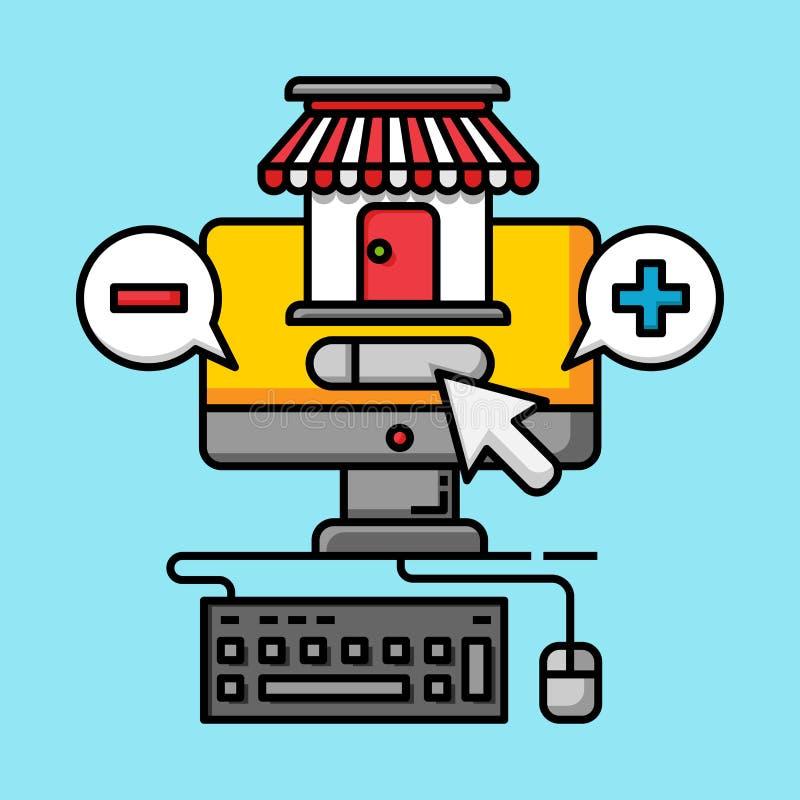 Digitalt marknadsföra lager för affärskommunikation stock illustrationer