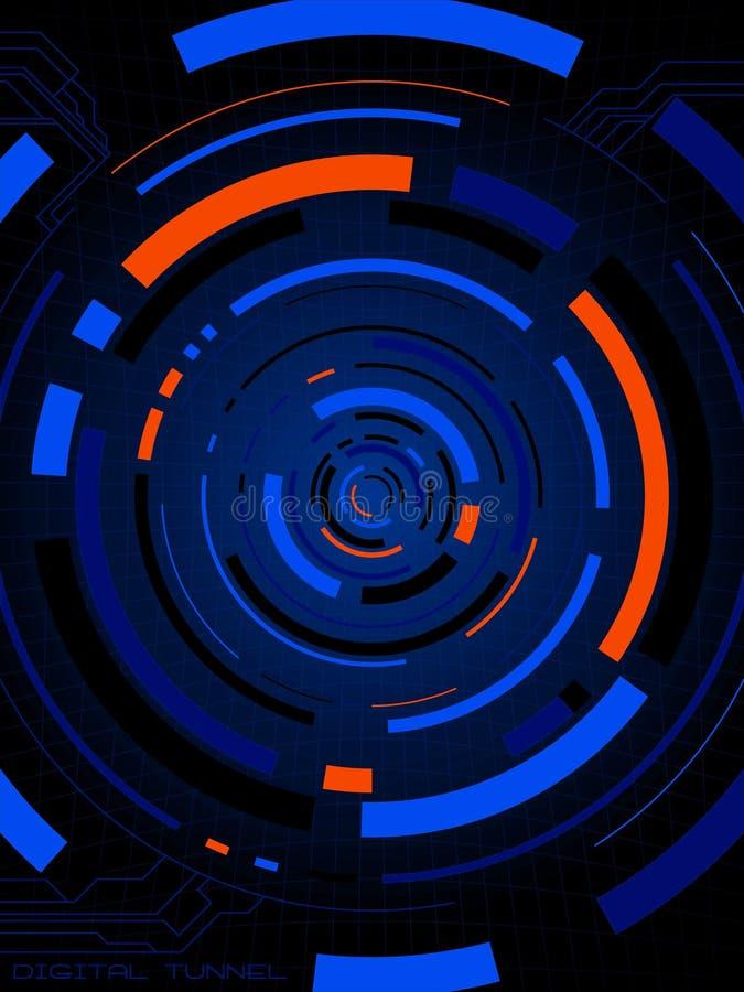 digitalt neon för anslutning vektor illustrationer