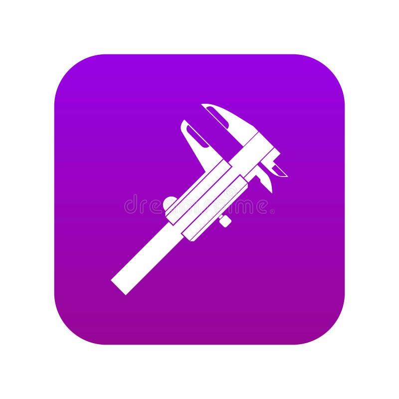 Digitalt purpurfärgat för klämmasymbol vektor illustrationer