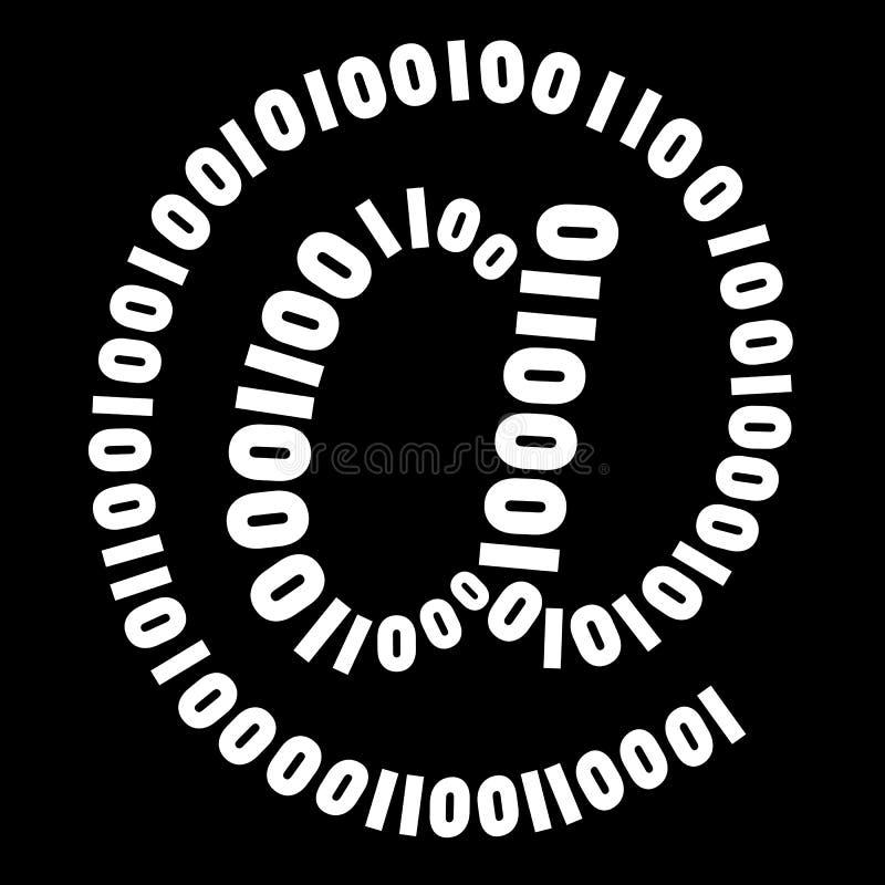 digitalt symbol royaltyfri illustrationer