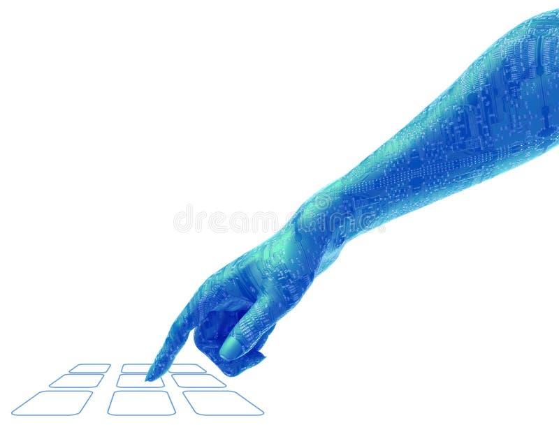 Digitaltechnik-Arm und Hand lizenzfreie abbildung