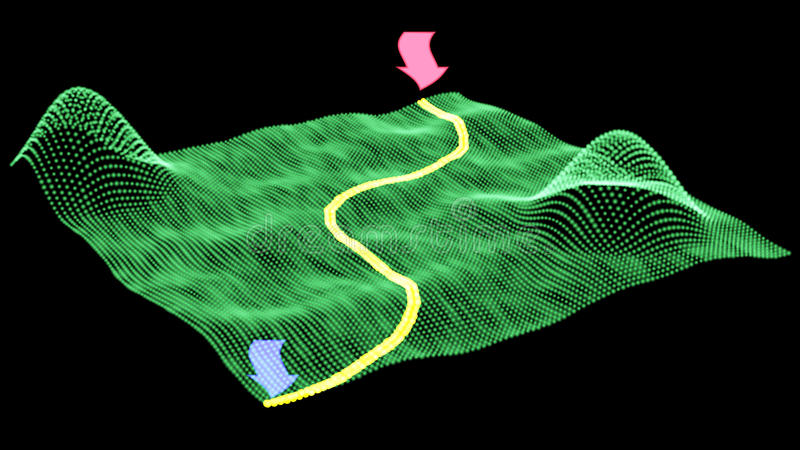 Digitaltechnik GPS-Verkehrshintergrund Auf lagervektorabbildung lizenzfreie abbildung