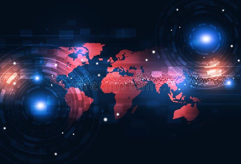 Digitaltechnik-Zusammenfassungshintergrund vektor abbildung