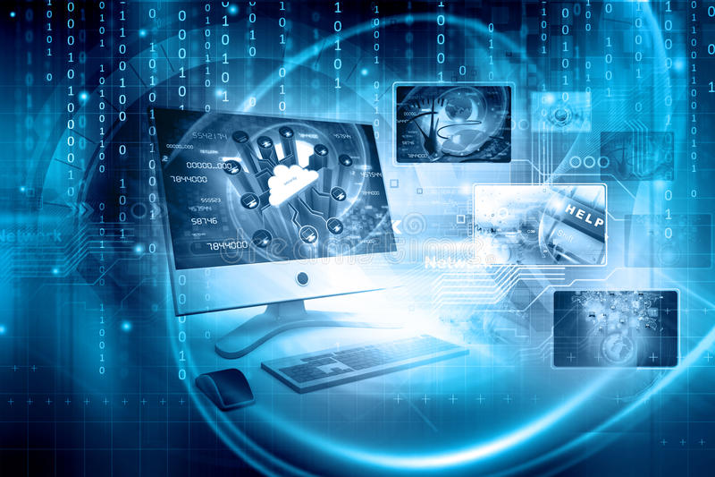 Digitaltechnikhintergrund lizenzfreies stockbild