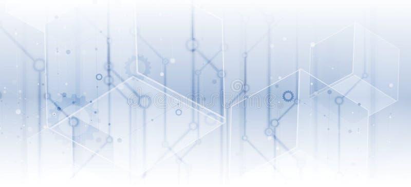 Digitaltechnikwelt Virtuelles Konzept des Geschäfts Vektor backg vektor abbildung