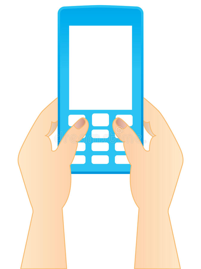 Digitare uno SMS illustrazione di stock