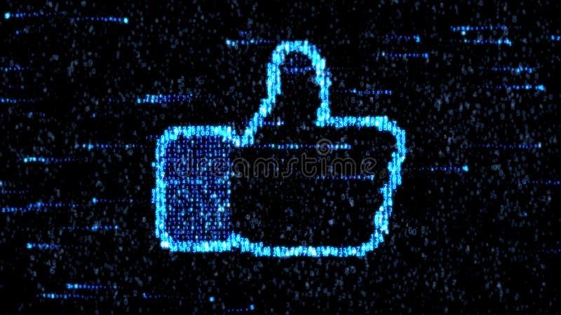 Digitas como Polegares acima Como o símbolo Acima de fotos de stock royalty free