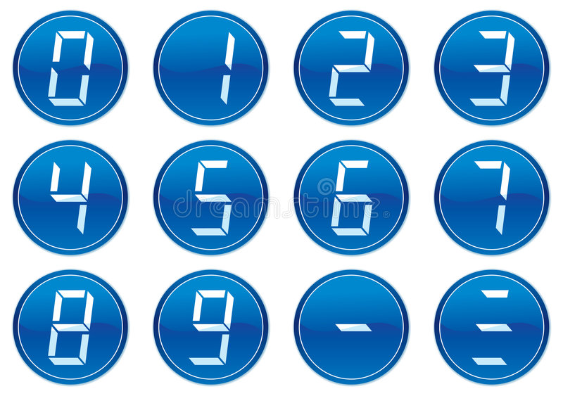 Download Digits icons set. stock vector. Image of pictograms, digit - 7002417